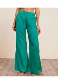Agrume Satynowe Spodnie Od Piżamy - S - Zielony - Etam. Kolor: zielony. Materiał: satyna