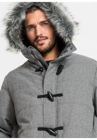 Szara kurtka bonprix na zimę, melanż
