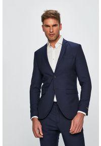 Premium by Jack&Jones - Marynarka. Kolor: niebieski. Materiał: tkanina. Styl: klasyczny