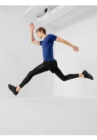 4f - Getry do biegania męskie. Kolor: czarny. Materiał: włókno, dzianina. Sport: fitness, bieganie