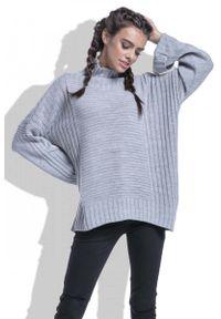 Szary sweter Fobya w prążki