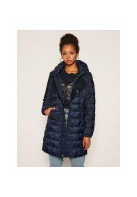 Niebieski płaszcz zimowy Desigual