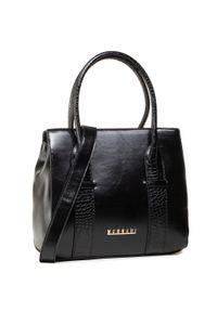 Monnari - Torebka MONNARI - BAG1170-020 Black 2021. Kolor: czarny. Materiał: skórzane. Rodzaj torebki: na ramię