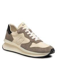 Guess Sneakersy Made FM5RUN FAB12 Beżowy. Kolor: beżowy. Sport: bieganie