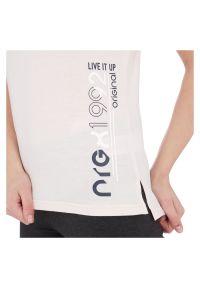 Koszulka damska Energetics Java 302603. Materiał: bawełna, materiał. Długość rękawa: krótki rękaw. Długość: krótkie