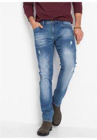 Dżinsy ze stretchem Slim Fit Straight bonprix niebieski denim. Kolor: niebieski