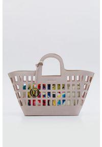 Różowa torebka Monnari z nadrukiem