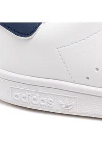 Adidas - Buty adidas - Stan Smith J H68621 Ftwwht/Ftwwht/Dkblue. Zapięcie: sznurówki. Kolor: biały. Materiał: skóra. Szerokość cholewki: normalna. Styl: młodzieżowy