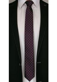 Czerwony krawat Angelo di Monti elegancki, w kropki