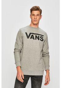 Szara bluza nierozpinana Vans bez kaptura, melanż