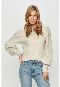 Szary sweter Silvian Heach z długim rękawem, długi, melanż, klasyczny