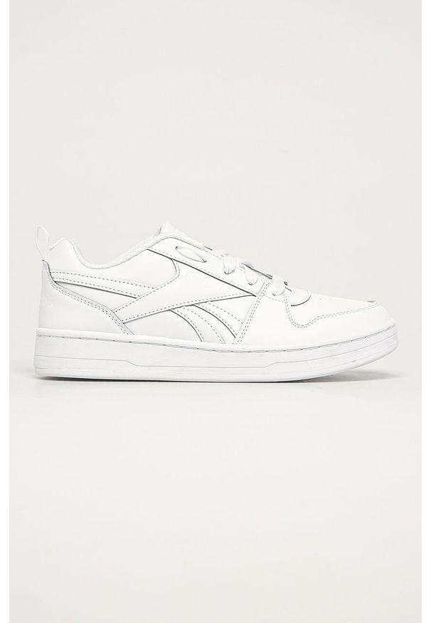 Białe buty sportowe Reebok Classic z okrągłym noskiem, Reebok Classic, na sznurówki