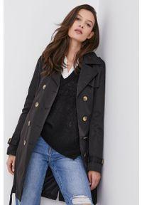 Czarny płaszcz Answear Lab na co dzień, wakacyjny, gładki