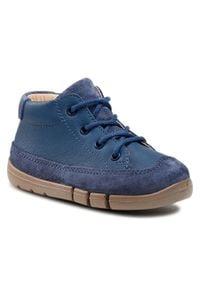 Superfit - Trzewiki SUPERFIT - 1-006331-8000 S Marine/Bluette. Kolor: niebieski. Materiał: skóra, zamsz. Sezon: zima, jesień. Styl: marine