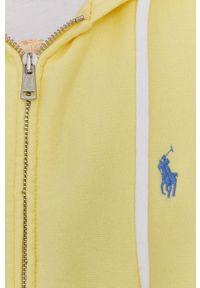 Polo Ralph Lauren - Bluza. Okazja: na co dzień. Typ kołnierza: polo. Kolor: żółty. Wzór: aplikacja. Styl: casual