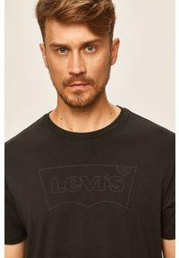 Czarny t-shirt Levi's® na co dzień, biznesowy
