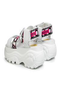 Białe sandały Buffalo London casualowe, na co dzień