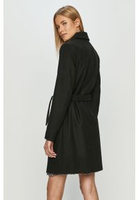 Czarny płaszcz Vila na co dzień, bez kaptura #6