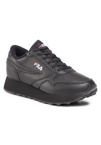 Czarne buty sportowe Fila na co dzień, z cholewką