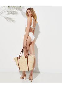 MARYSIA SWIM - Biały top od bikini Santa Clara Wide. Kolor: biały. Materiał: nylon