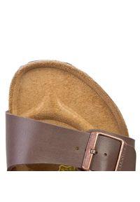 Birkenstock - Sandały BIRKENSTOCK - Milano 034701 Brązowy. Kolor: brązowy. Materiał: skóra ekologiczna, materiał. Sezon: lato. Styl: klasyczny
