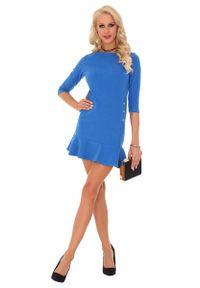 Niebieska sukienka wizytowa Merribel prosta