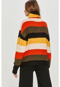 Pomarańczowy sweter Answear Lab długi, wakacyjny, z długim rękawem