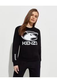 """KENZO - Czarna bluza """"Kenzo Ox"""". Kolor: czarny. Materiał: bawełna. Długość rękawa: długi rękaw. Długość: długie"""