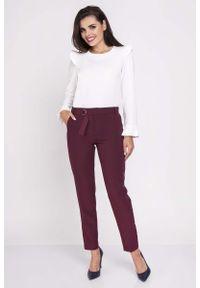 Czerwone spodnie Nommo eleganckie