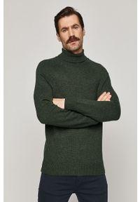 Sweter medicine casualowy, długi, z golfem