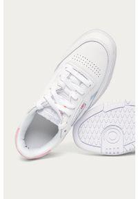 Białe buty sportowe Reebok Classic na średnim obcasie, na obcasie