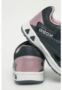 Niebieskie buty sportowe Geox z cholewką, na rzepy