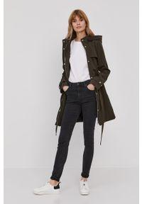 Brązowy płaszcz DKNY gładki