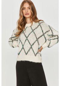 Biały sweter Answear Lab długi, wakacyjny