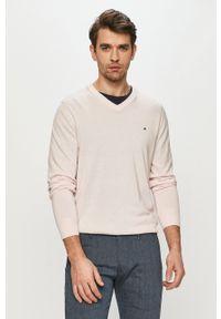 TOMMY HILFIGER - Tommy Hilfiger - Sweter. Okazja: na co dzień. Kolor: różowy. Materiał: dzianina. Długość rękawa: długi rękaw. Długość: długie. Styl: casual