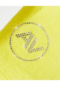 ALEXANDRE VAUTHIER - Żółta koszulka oversize. Okazja: na co dzień. Kolor: żółty. Materiał: jeans, bawełna. Styl: klasyczny, casual