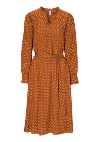 Pomarańczowa sukienka Soyaconcept z długim rękawem