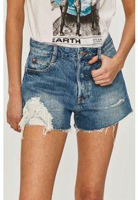 Miss Sixty - Szorty jeansowe. Okazja: na co dzień. Kolor: niebieski. Materiał: jeans. Styl: casual