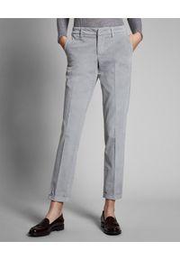 FAY - Szare spodnie chino. Okazja: na co dzień, do pracy. Kolor: szary. Materiał: bawełna. Styl: klasyczny, casual