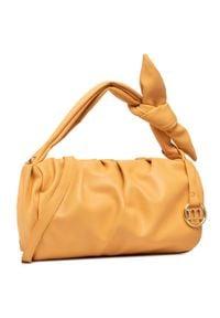 Monnari - Torebka MONNARI - BAG0980-003 Orange. Kolor: pomarańczowy. Materiał: skórzane. Styl: klasyczny