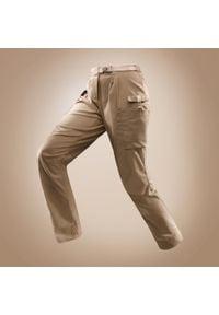 FORCLAZ - Spodnie trekkingowe DESERT 500 damskie. Materiał: elastan, poliester, poliamid, materiał, bawełna