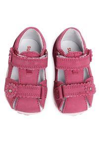 Różowe sandały Superfit z aplikacjami, na co dzień, casualowe, na lato
