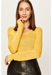 Żółty sweter ANSWEAR na co dzień, casualowy