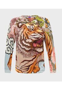 MegaKoszulki - Bluza damska fullprint Tiger. Długość: długie. Styl: klasyczny
