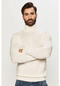 Biały sweter Brave Soul casualowy, na co dzień, z długim rękawem, długi
