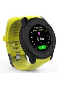Żółty zegarek Maxcom casualowy, smartwatch