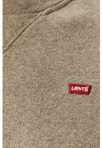 Levi's® - Levi's - Bluza. Okazja: na co dzień, na spotkanie biznesowe. Kolor: szary. Materiał: dzianina. Wzór: aplikacja, gładki. Styl: casual, biznesowy