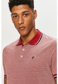 Czerwona koszulka polo Premium by Jack&Jones na co dzień, polo, krótka, gładkie