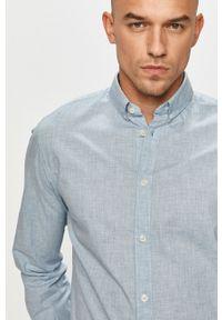 Niebieska koszula Tom Tailor na co dzień, z długim rękawem, długa