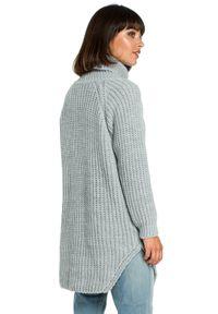 Sweter z golfem, długi